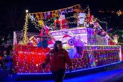 LADYSMITH, BC,加拿大- 2017年11月30日:圣诞节巴拉的看法 免版税库存照片