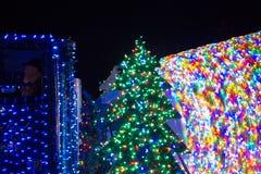 LADYSMITH, BC,加拿大- 2017年11月30日:圣诞节巴拉的看法 图库摄影