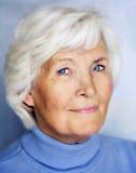 ladyståendepensionär Fotografering för Bildbyråer