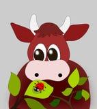 ladyug коровы иллюстрация штока