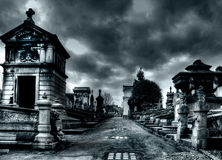 Laeken cemetery in Brussels stock photography