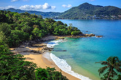 Laem唱海滩,普吉岛,泰国 库存照片