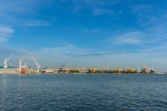 Laem Chabang造船厂,春武里市省泰国 免版税库存图片
