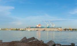 Laem Chabang造船厂,春武里市省泰国 库存照片