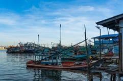 Laem Chabang, Sriracha, Chonburi, THAILAND - Augusti, 2014 Arkivfoton