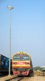 Laem Chabang, Tailândia: Estacionamento do frete das locomotivas. Fotografia de Stock