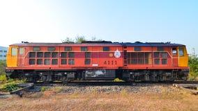 Laem Chabang,Thailand:Alsthom locomotive. Alsthom locomotive head of Thailand at Laem Chabang Station Royalty Free Stock Image