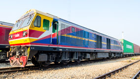 Laem Chabang,Thailand:HITACHI locomotive Thailand  Royalty Free Stock Images