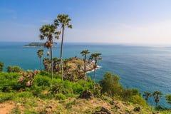 Laem Phrom Thep, Phuket, Süden von Thailand Stockbild