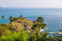 Laem Phrom Thep, Phuket, South of thailand. Laem Phromthep is the one of most important and popular place of Phuket province , Thailand Royalty Free Stock Photography