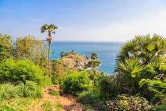 Laem Phrom Thep, Phuket, sud de la Thaïlande Image libre de droits