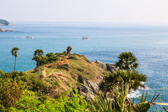 Laem Phrom Thep, Phuket, sud de la Thaïlande Photos libres de droits