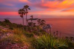 Laem Phrom Thep, Phuket, sul de Tailândia Imagens de Stock Royalty Free