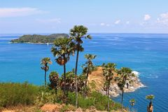 Laem Phromthep Cape viewpoint Stock Photos