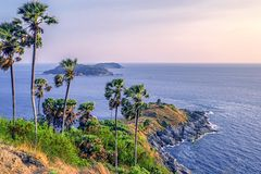 Laem PhromThep, Phrom Thep Cape, phuket, thailand. Shoot in the mountian royalty free stock images