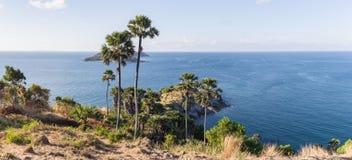 Laem Phromthep Viewpoint (Phromthep Cape Viewpoint) in Phuket, Royalty Free Stock Images