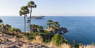 Laem Phromthep Viewpoint (Phromthep Cape Viewpoint) in Phuket, Royalty Free Stock Photos