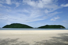 Laem Sala beach with two mountains, Thailand Stock Images