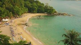 Laem Sing beach, Phuket island, Thailand. Top view. Video 3840x2160 - Laem Sing beach, Phuket island, Thailand. Top view stock video
