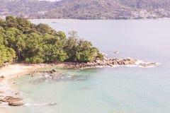 Laem Singh beach, Phuket, Thailand. It is very beautiful and peac stock image