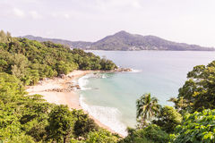 Laem Singh beach, Phuket, Thailand. It is very beautiful and peac Royalty Free Stock Images