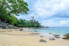Laem Singh plaża jest jeden Phuket piękne plaże zdjęcie stock