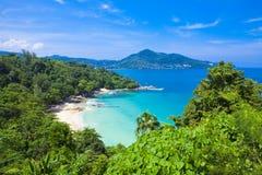 Laem zingt Strand, in Phuket wordt gevestigd die, Stock Foto's