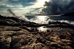 Laempromthep. The Wave at Laempromthep , Phuket , Thailand Royalty Free Stock Image
