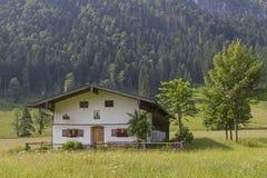 Laengental-Hütte im Bayern Stockbilder