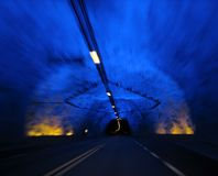 laerdal tunnel royaltyfri bild