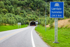 Laerdal Tunnel in Norway - the longest road tunnel in the world Royalty Free Stock Photos