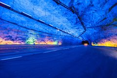 Laerdal Tunnel Royalty Free Stock Photography