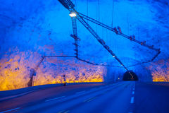 Laerdal tunnel, Norway, the longest in the world Royalty Free Stock Photos