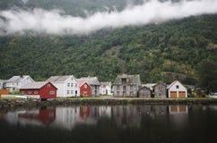 Laerdal village Stock Photography