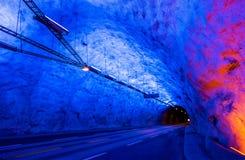 Laerdalstunnelen, langste wegtunnel in de wereld - Noorwegen Stock Afbeelding