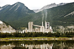 Lafarge plant in Alberta Canada Royalty Free Stock Photos