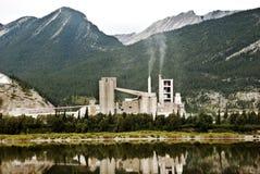 Lafargeinstallatie in Alberta Canada Royalty-vrije Stock Foto's