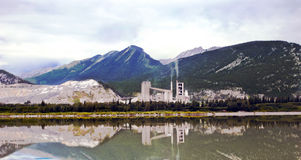 Lafargeinstallatie in Alberta Canada Royalty-vrije Stock Fotografie