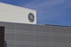 Lafayette, ADENTRO - circa julio de 2016: La instalación de aviación de General Electric La aviación de GE es fabricante de SALTO fotos de archivo