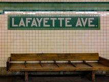 Lafayette-Alleen-U-Bahnstation Stockbild
