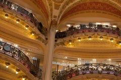 Lafayette balconies. Balconies Lafayette Gallery trade center in Paris, France stock image