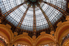 Lafayette ceiling. Architectural details from Lafayette Gallery trade center in Paris, France royalty free stock image