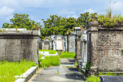 Lafayette cemetery in New Orleans with historic Grave Stones Royalty Free Stock Photo