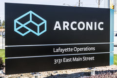 Lafayette - Circa April 2017: Arconic Forging and Extrusion Plant. Arconic was spun off of Alcoa in 2016 II Royalty Free Stock Photo
