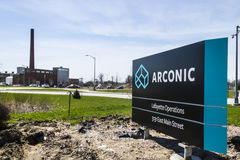Lafayette - Circa April 2017: Arconic Forging and Extrusion Plant. Arconic was spun off of Alcoa in 2016 III Stock Photos