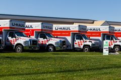 Lafayette - Circa April 2018: U-Haul Moving Truck Rental Location. U-Haul offers moving and storage solutions III. U-Haul Moving Truck Rental Location. U-Haul stock image