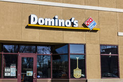 Lafayette - Circa December 2016: Domino`s Pizza Carryout Restaurant. Domino`s delivers more than 1 million pizzas a day V. Domino`s Pizza Carryout Restaurant Stock Photo