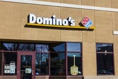 Lafayette - Circa December 2016: Restaurant het Om mee te nemen van de domino` s Pizza De domino ` s levert meer dan 1 miljoen pi Stock Foto