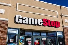 Lafayette - circa dicembre 2016: Posizione del centro commerciale di striscia di GameStop GameStop è un rivenditore di elettronic Fotografia Stock Libera da Diritti