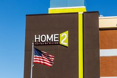 Lafayette - Circa February 2018: Home2 Suites by Hilton. Home2 Suites is an all-suite extended-stay hotel II Royalty Free Stock Photo
